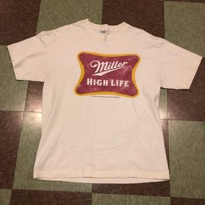 Miller high life tshirt party tee graphic logo Lg